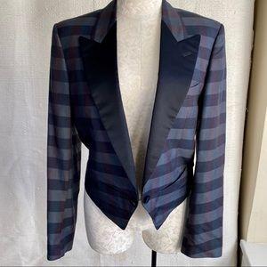 Vintage M/L Gianfranco Ferre Print Tuxedo Jacket